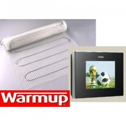 PREMIUM E-MAT SET 160W/M2, INCL. WIFI WARMUP 4IE ZWART/WIT THERMOSTAAT