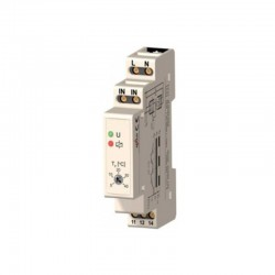 TM01 Din Rail thermostaat. vaste hysterese, wisselcontact